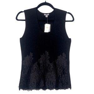 Ann Taylor Black Cashmere Sleeveless Sweater XS